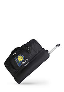 NBA Indiana Pacers 27-in. Wheeled Duffel Nylon bag in Black
