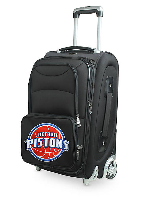 Denco NBA Detroit Pistons Luggage Carry-On 21-in. Rolling