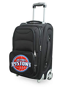 Denco NBA Detroit Pistons Luggage Carry-On 21-in. Rolling Softside Nylon in Black