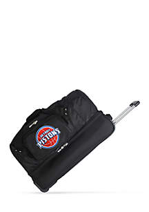 NBA Detroit Pistons 27-in. Wheeled Duffel Nylon bag in Black