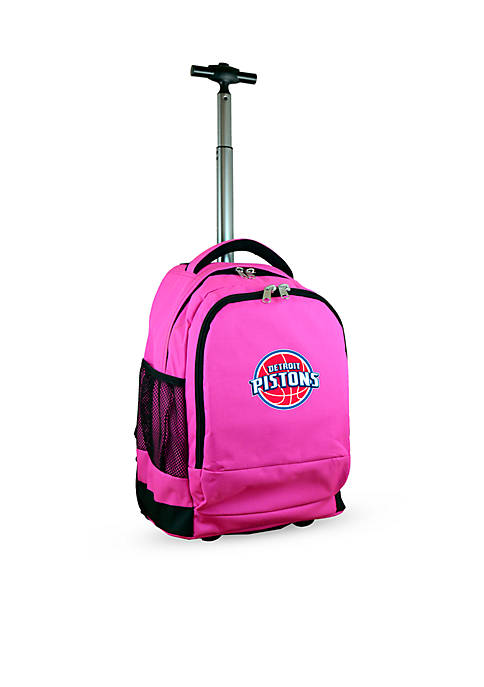 Mojo Detroit Pistons Premium Wheeled Backpack