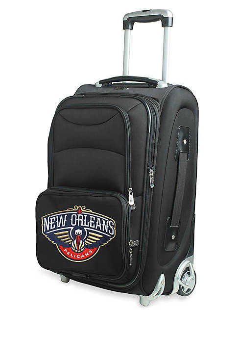 NBA New Orleans Pelicans Luggage Carry-On 21-in. Rolling Softside Nylon in Black