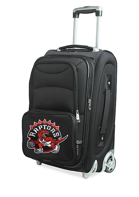Denco NBA Toronto Raptors Luggage Carry-On Rolling Softside