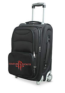 Denco NBA Houston Rockets Luggage Carry-On 21-in. Rolling Softside Nylon in Black