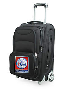 Denco NBA Philadelphia 76ers Luggage Carry-On 21-in. Rolling Softside Nylon in Black