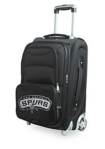 Denco NBA San Antonio Spurs Luggage Carry-On 21-in. Rolling Softside Nylon in Black