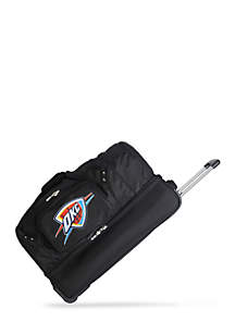 Denco NBA Oklahoma City Thunder Wheeled Duffel Nylon Bag