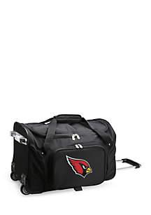Denco NFL Arizona Cardinals Wheeled Duffel Nylon Bag