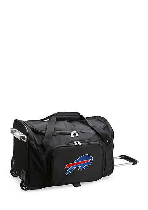 NFL Buffallo Bills Wheeled Duffel Nylon Bag