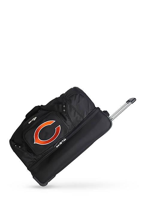 Denco NFL Chicago Bears Wheeled Duffel Nylon Bag