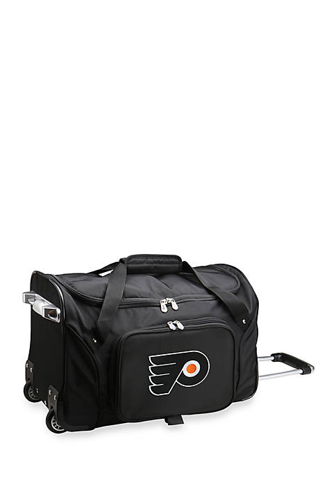 Denco NHL Philadelphia Flyers Wheeled Duffel Nylon Bag