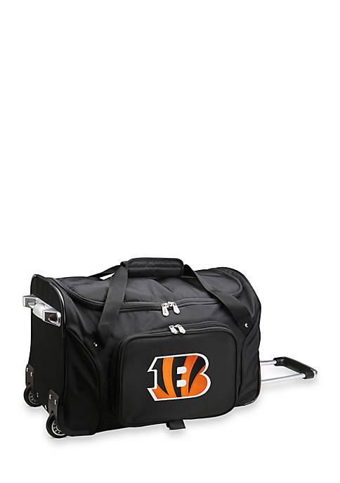 Denco NFL Cincinnati Bengals Wheeled Duffel Nylon Bag