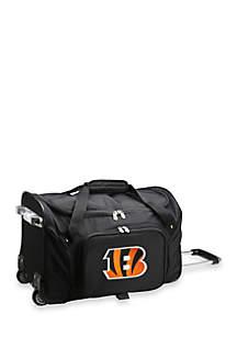 NFL Cincinnati Bengals Wheeled Duffel Nylon Bag