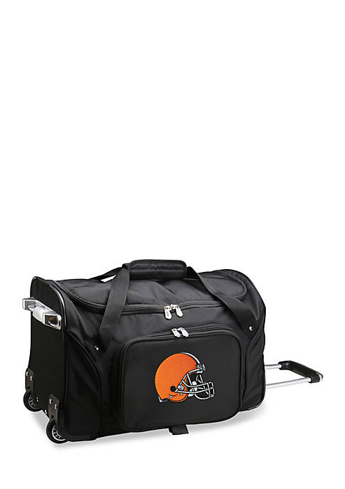 Denco NFL Cleveland Browns Wheeled Duffel Nylon Bag