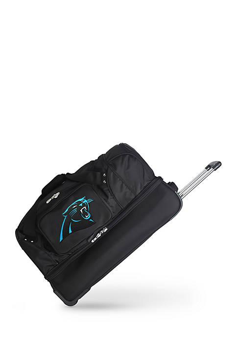Denco NFL Carolina Panthers 27in Wheeled Duffel Nylon