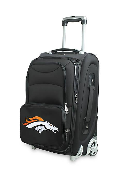 Denco NFL Denver Broncos 20-in. Softsided Luggage Rolling