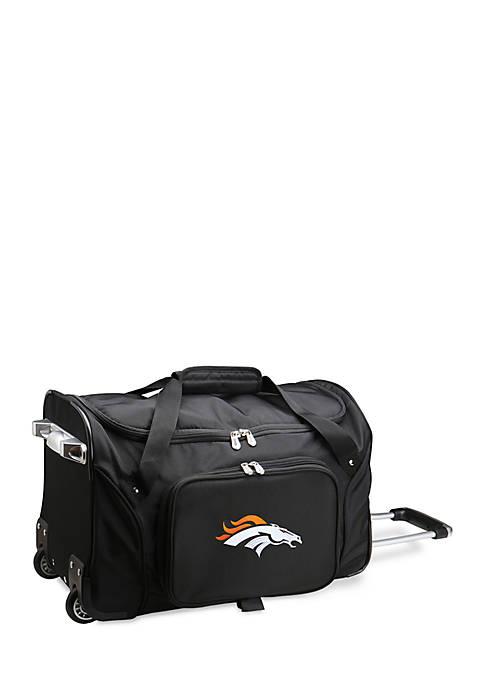 Denco NFL Denver Broncos Wheeled Duffel Nylon Bag