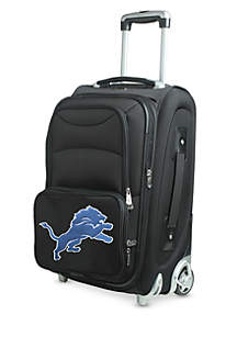 Denco NFL Detroit Lions Luggage Carry-On 21in Rolling Softside Nylon in Black