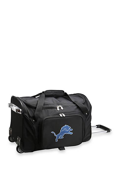 Denco NFL Detroit Lions 22-in. Wheeled Duffel Nylon
