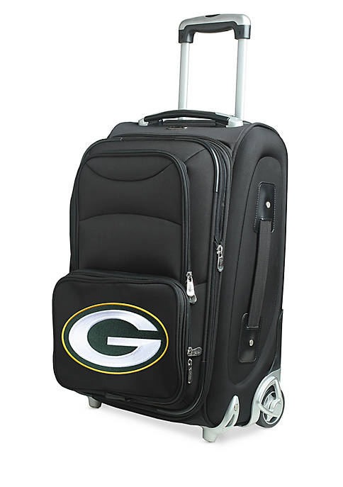 NFL Green Bay Packers Luggage Carry-On 21-in. Rolling Softside Nylon in Black