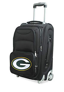 Denco NFL Green Bay Packers Luggage Carry-On 21-in. Rolling Softside Nylon in Black