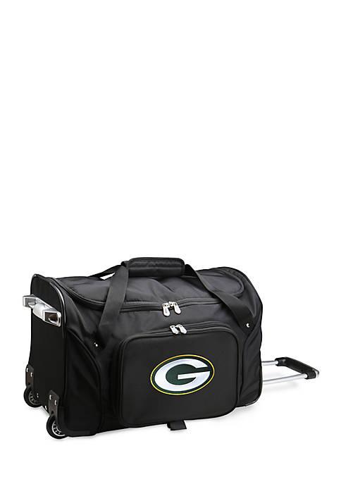 Denco NFL Green Bay Packers Wheeled Duffel Nylon