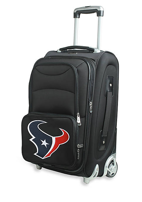 Denco NFL Houston Texans Luggage Carry-On Rolling Softside