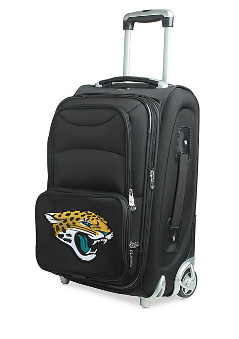 NFL Jacksonville Jaguars Luggage Carry-On 21-in. Rolling Softside Nylon in Black