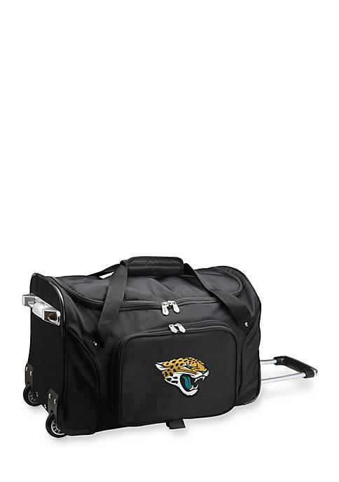 Denco NFL Jacksonville Jaguars Wheeled Duffel Nylon Bag