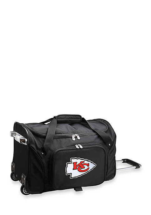 Denco NFL Kansas City Chiefs Wheeled Duffel Nylon