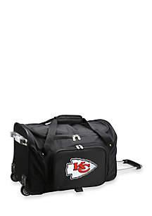 NFL Kansas City Chiefs Wheeled Duffel Nylon Bag