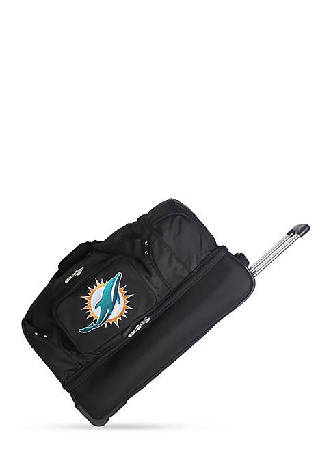 Denco NFL Miami Dolphins Wheeled Duffel Nylon Bag