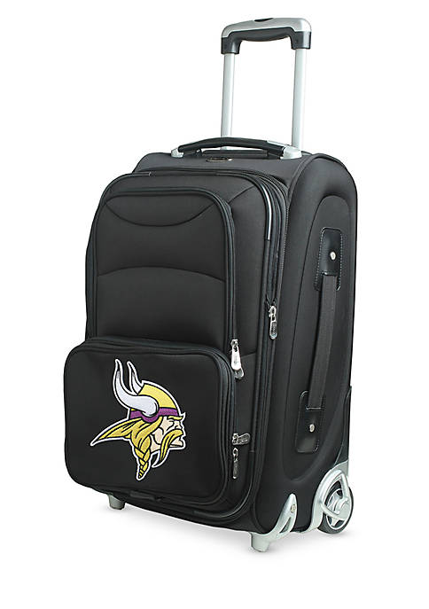 Denco NFL Minnesota Vikings Luggage Carry-On Rolling Softside