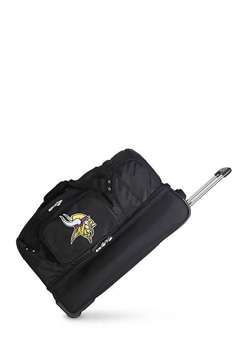 Denco NFL Minnesota Vikings Wheeled Duffel Nylon Bag