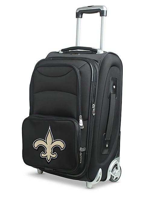 Denco NFL New Orleans Saints Luggage Carry-On Rolling