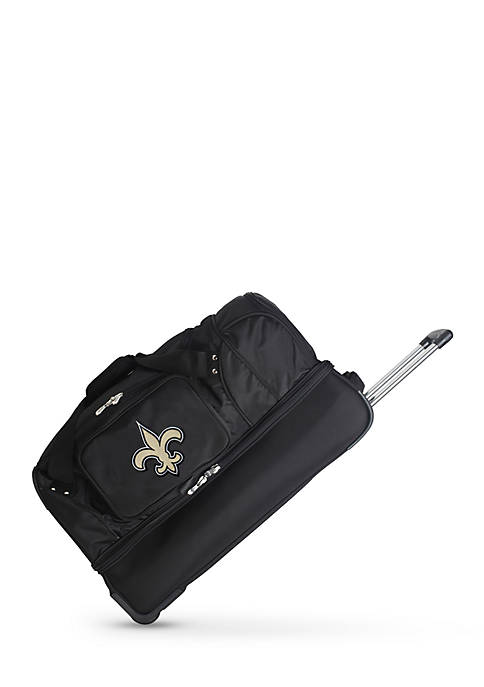 Denco NFL New Orleans Saints Wheeled Duffel Nylon
