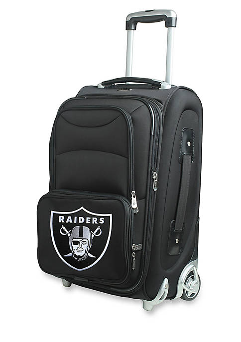 Denco NFL Oakland Raiders Luggage Carry-On Rolling Softside