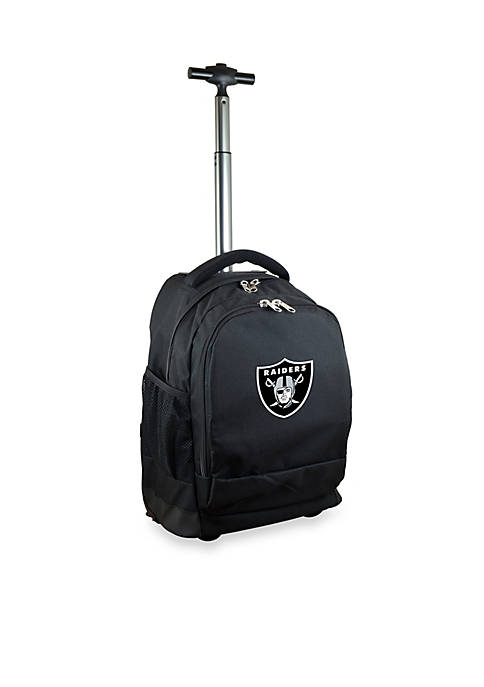 Mojo Oakland Raiders Premium Wheeled Backpack