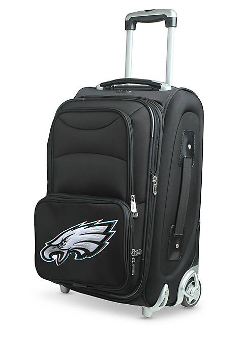 NFL Philadelphia Eagles  Luggage Carry-On Rolling Softside Nylon in Black