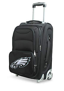 NFL Philadelphia Eagles  Luggage Carry-On Rolling Softside Nylon in Black