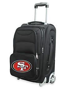 NFL San Francisco 49ers Luggage Carry-On Rolling Softside Nylon