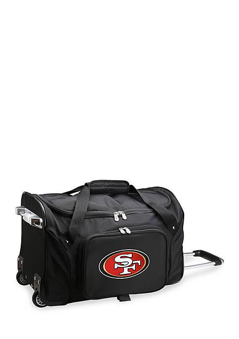 Denco NFL San Francisco 49ers Wheeled Duffel Nylon