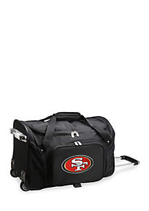 NFL San Francisco 49ers Wheeled Duffel Nylon Bag