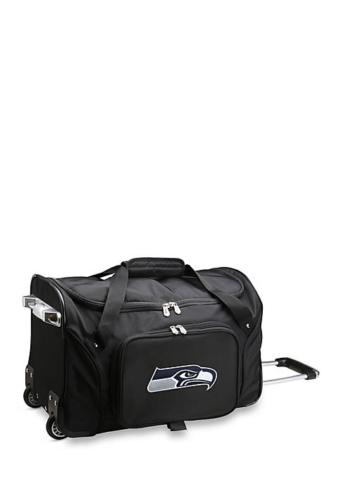 NFL Seattle Seahawks Wheeled Duffel Nylon Bag