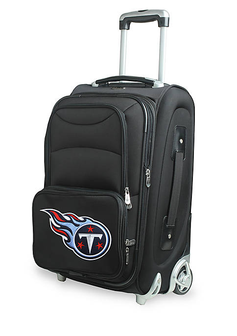 NFL Tennessee Titans Luggage Carry-On Rolling Softside Nylon
