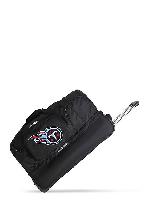 Denco NFL Tennessee Titans Wheeled Duffel Nylon Bag