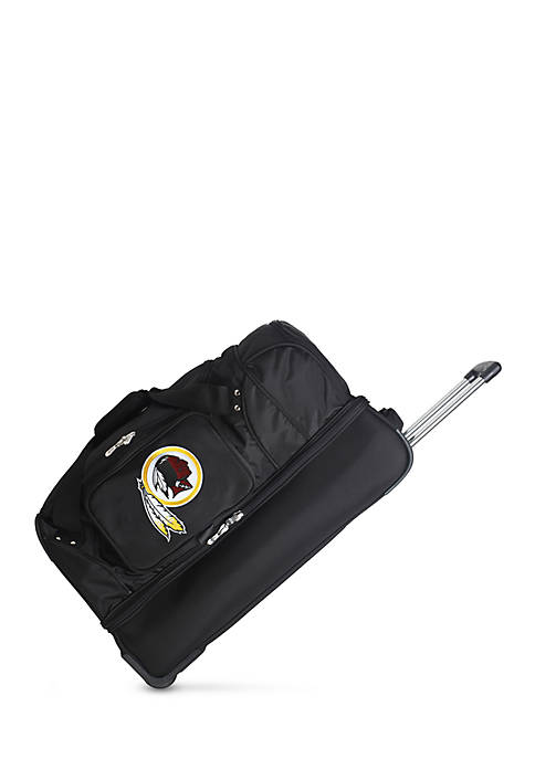 Denco NFL Washington Redskins Wheeled Duffel Nylon Bag