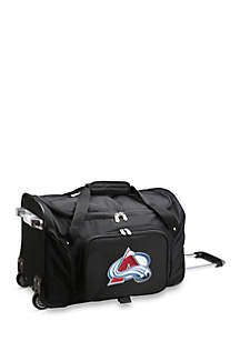 NHL Colorado Avalanche Wheeled Duffel Nylon Bag