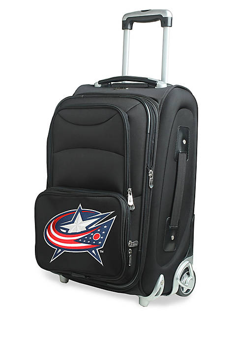 Denco NHL Columbus Blue Jackets Luggage Carry-On Rolling