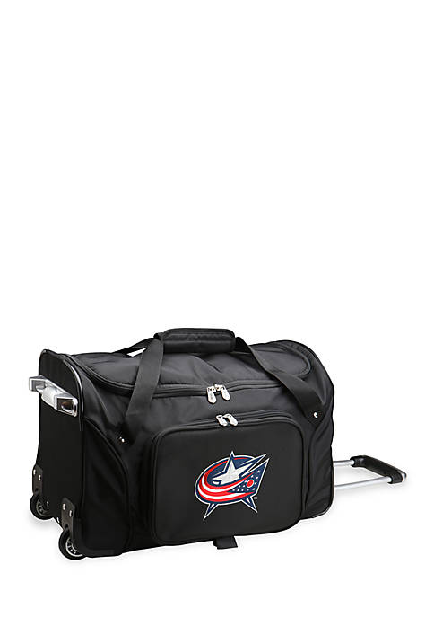 Denco NHL Columbus Blue Jackets Wheeled Duffel Nylon